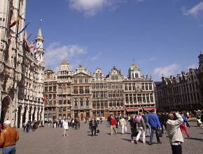 Radurlaub in Belgien: Grand Place in Brüssel